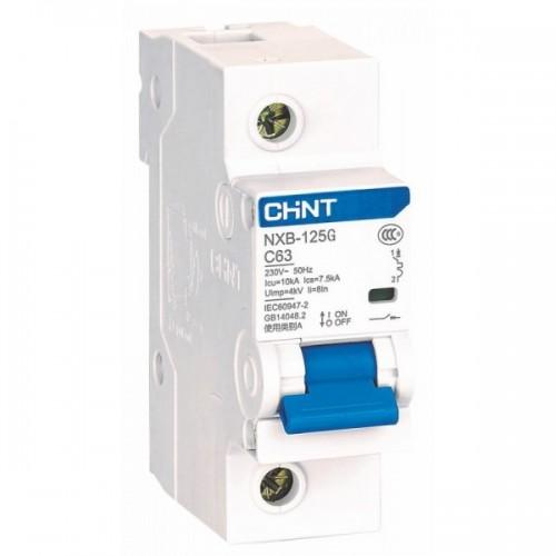 Модульний автоматичний вимикач NXB-125 1P D 100A 10kA