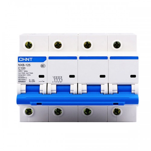Модульний автоматичний вимикач NXB-125 4P C 63A 10kA