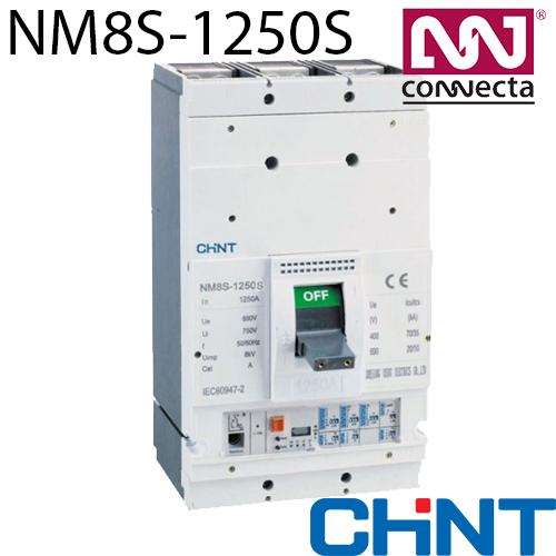 Автоматичний вимикач з електронним розчіплювачем NM8S-1250S 700A 3P