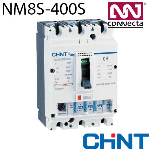 Автоматичний вимикач з регульованим розчеплювачем NM8S-400S 400A 3P