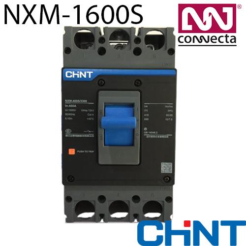 Силовий автоматичний вимикач NXM-1600S/3Р 1000A 50кА у відлитому корпусі (регульований)