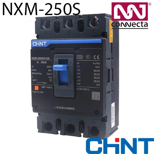 Силовий автоматичний вимикач NXM-250S/3Р 180A 35кА у відлитому корпусі