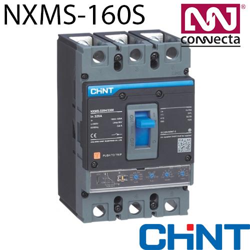 Автомат NXMS-160S(F)/3Р 100A 50кА з електронним розчіплювачем