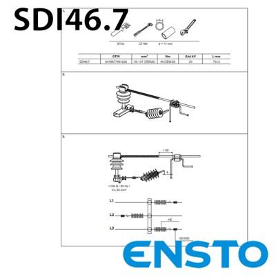 ОПН з іскровим проміжком SDI46.7 для штирьового ізолятора на 20кВ