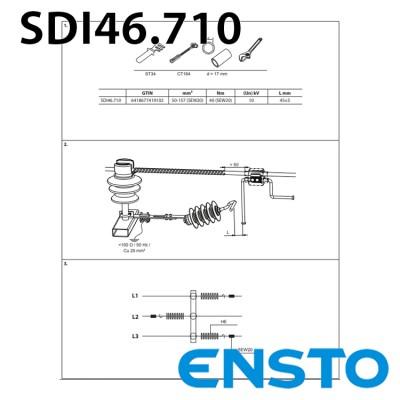 ОПН з іскровим проміжком SDI46.710 для штирьового ізолятора на 10кВ