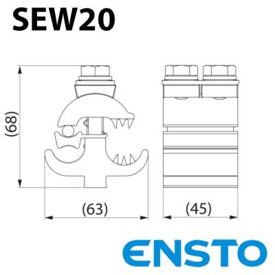 Дугозахисний пристрій SEW20 (50–150)/(50–150)