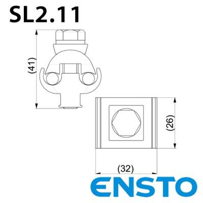 Затискач SL2.11 (16-50)/(16-50) для неізольованого проводу