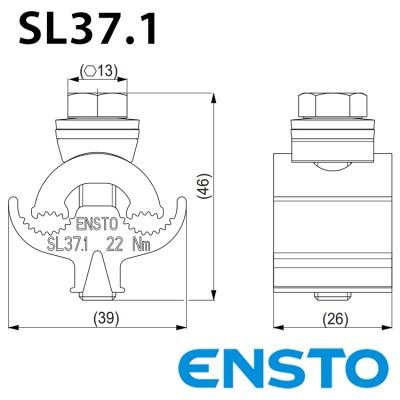 Плашковий затискач SL37.1 (6-95)/(6-95)