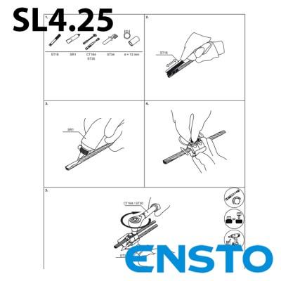 Затискач зєднувальний плашковий SL4.25 (16-120)/(16-120)