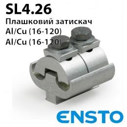 Затискач зєднувальний плашковий SL4.26 (16-120)/(16-120)