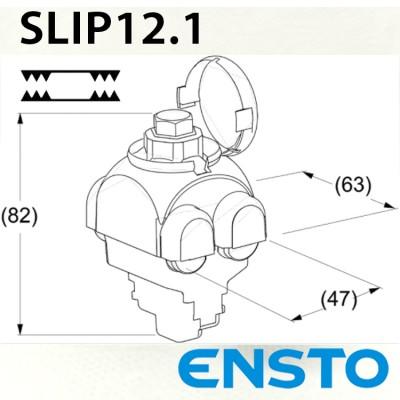 Проколюючий затискач SLIP12.1 двосторонній (10-95)/(1,5-50)