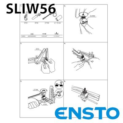 Проколюючий затискач SLIW56 (25-150)/(6-35) герметичный