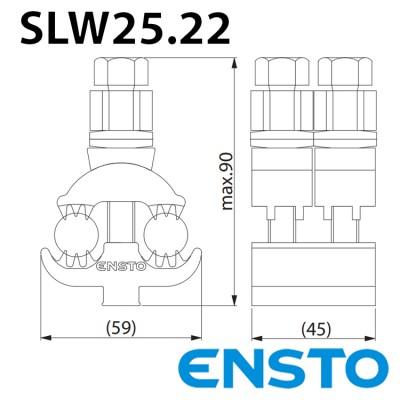 Затискач проколюючий SLW25.22 (50-150)/(50-150) двосторонній в кожусі