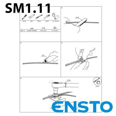 Затискач SM1.11 (10-50)/(1,5-10) для зєднання мідних проводів з алюмінієвими