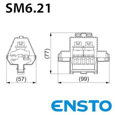 Затискач SM6.21 (16-95)/(6-35) з одностороннім проколюванням в захисному кожусі