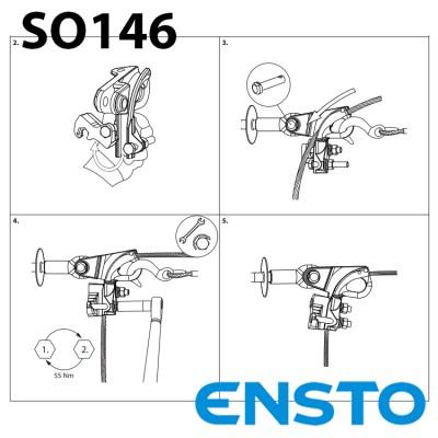 Затискач анкерний натяжний SO146 для одножильного кабеля СІП-3 (35-150)