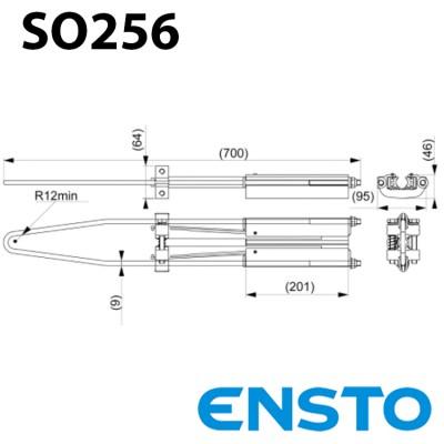 Анкерний затискач SO256 (95-150) для одножильного проводу СІП 6-10кВ