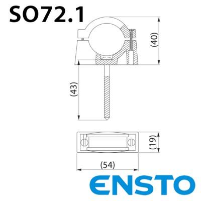 Бандаж дистанційний SO72.1 для кріплення кабелю до поверхонь з дерева