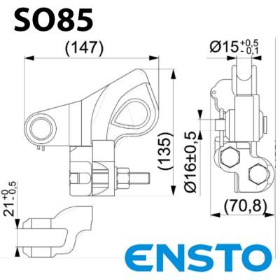 Натяжний затискач SO85 для СІП-3