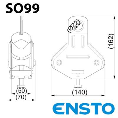 Підтримуючий затискач з роликами SO99 універсальний