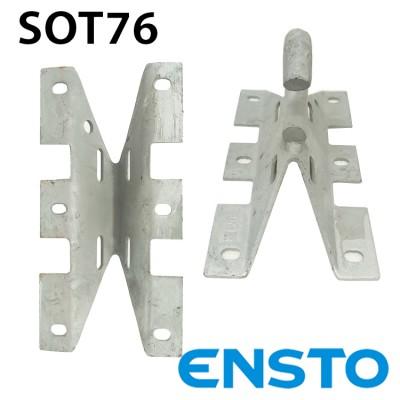 Гак універсальний SOT76 під бандажну стрічку або шурупи