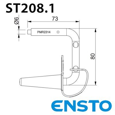 Ізольована мідна скоба для тимчасового заземлення ST208.1