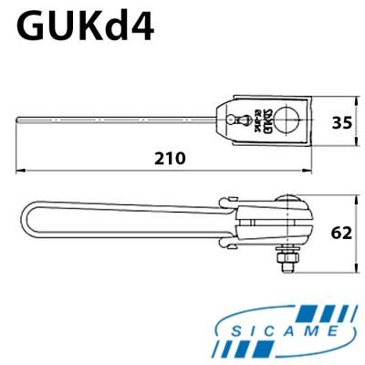Затискач натяжний 4х(16-35) GUKd4