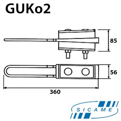 Натяжний затискач для кріплення 4-х жил СІП 4х(70х120) GUKo2