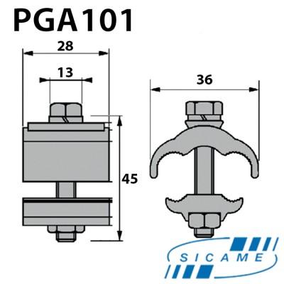 Затискач плашковий PGA101